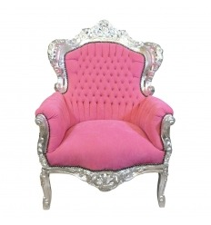 Barokk szék rózsaszín