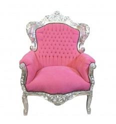 Sillón barroco rosa