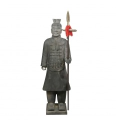 Oficial guerrero chino estatua 185 cm