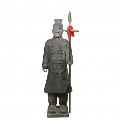 Warrior standbeeld Chinese officier 185 cm-soldaten Xian -