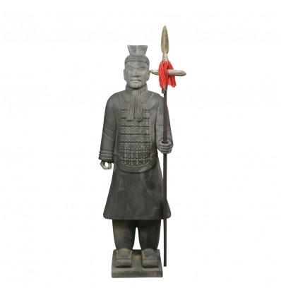 Chinesische Offizierskriegerstatue 185 cm