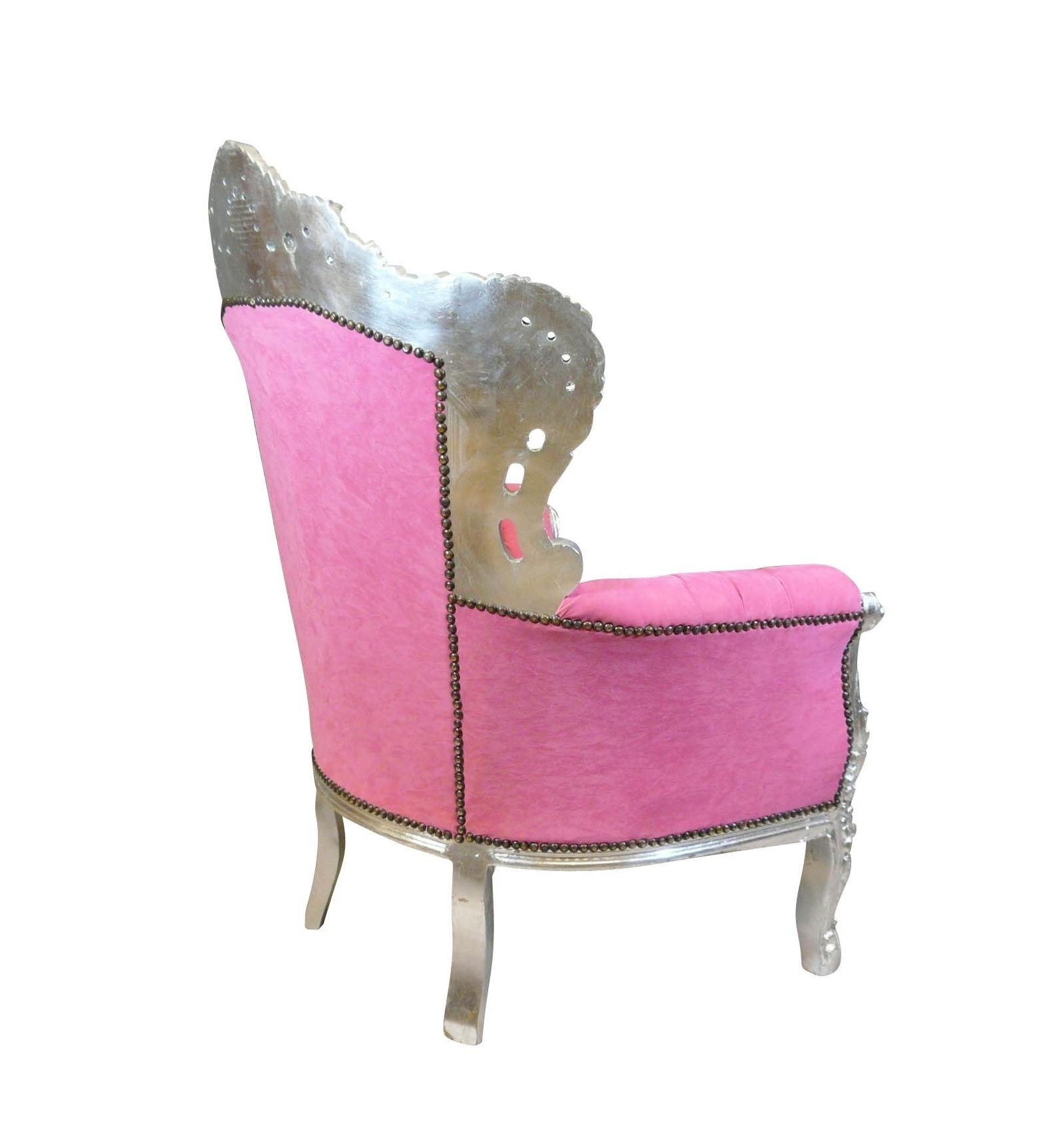Sillón barroco rosa , silla, mesa, mobiliario