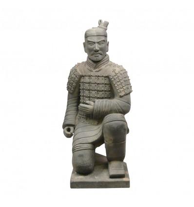 Guerrero chino estatua Xian Archer 120 cm