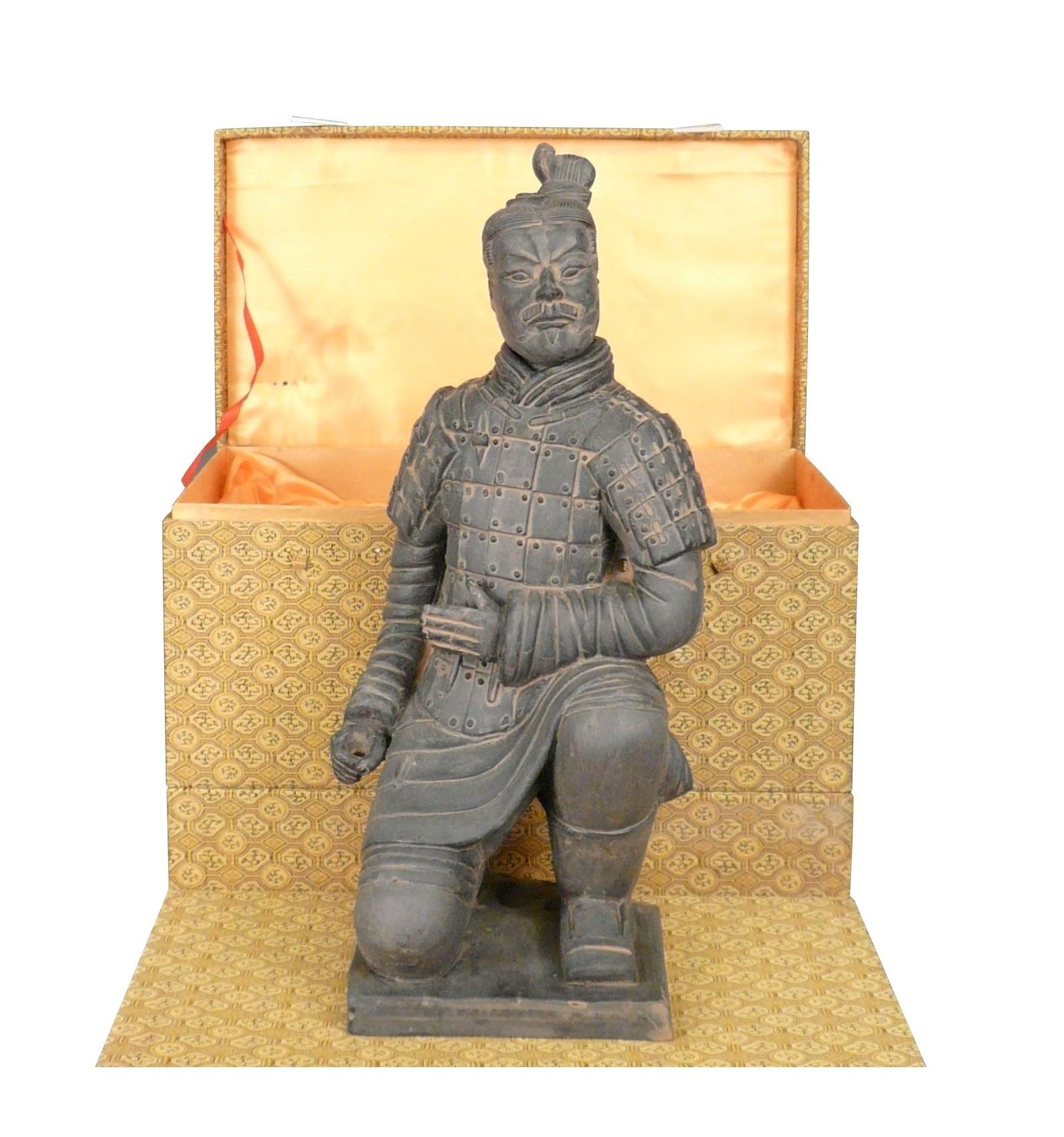 Archer Soldier Statuette Chinese Xian Terracotta Warrior Statues Xian