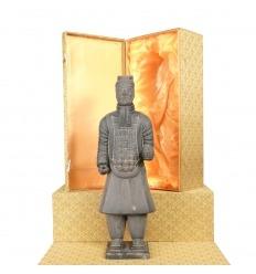 Officer - soldat kinesiska Xian terrakotta statyett kokta