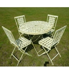 Salon de jardin en fer forgé - Chaise et table en fer forgé pour l ...