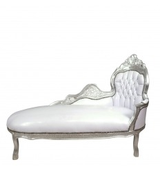 Méridienne blanche style baroque - Mobilier baroque