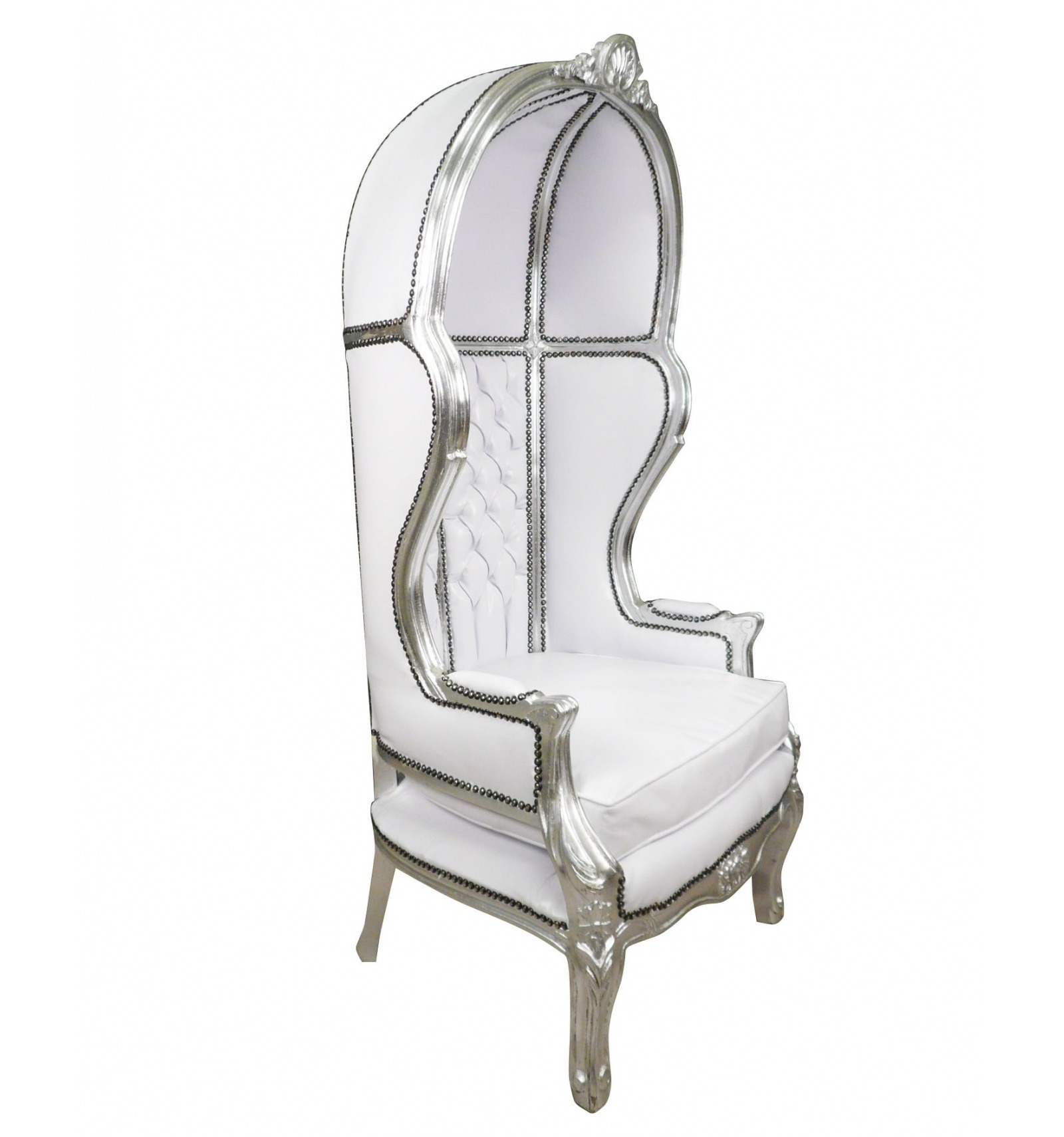 fauteuil carrosse blanc meubles baroques meubles de style. Black Bedroom Furniture Sets. Home Design Ideas
