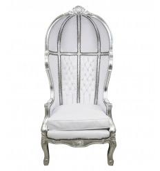 Barock Sessel weiße Kutsche