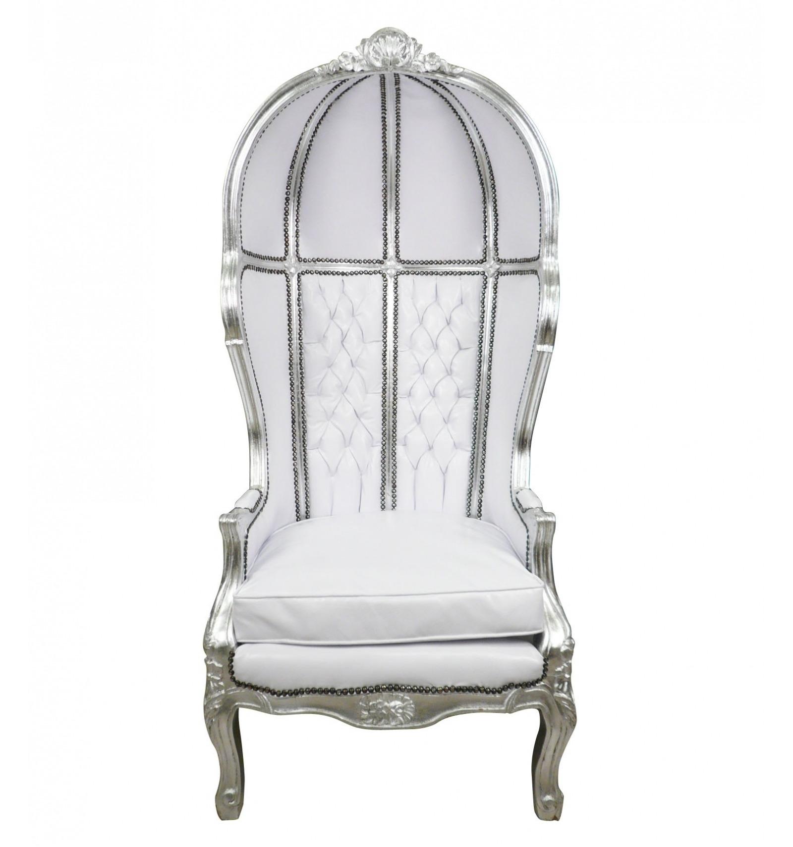 fauteuil baroque carrosse blanc ameublement baroque. Black Bedroom Furniture Sets. Home Design Ideas