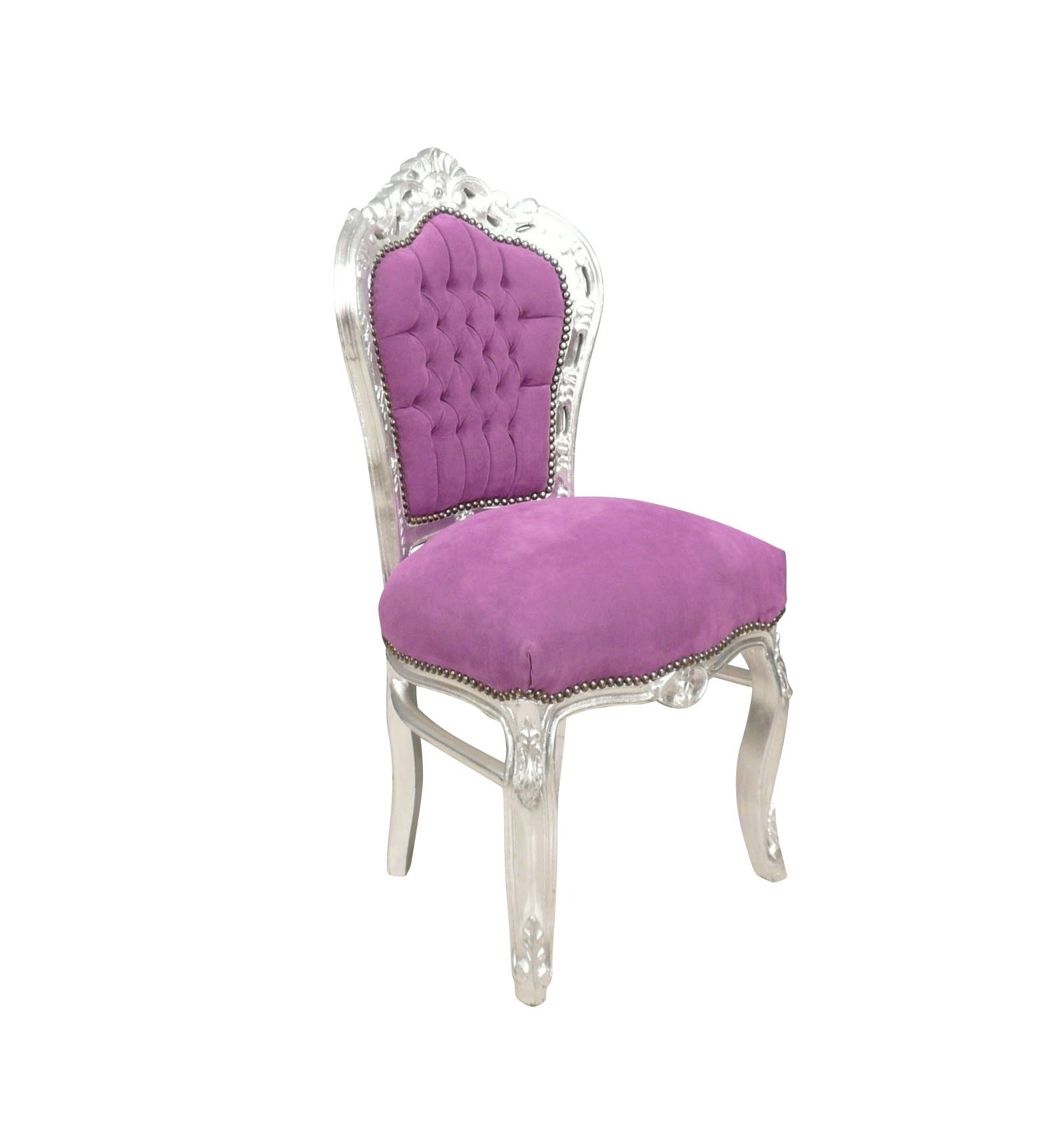 Chair baroque purple cheap for Chaise baroque