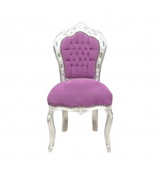 Chaise violette style baroque - Meubles baroques