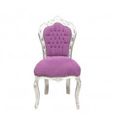 Chaise baroque mauve