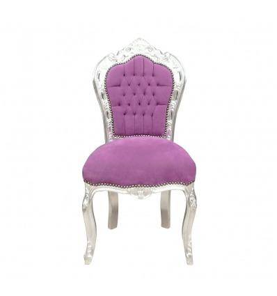 Purple baroque chair
