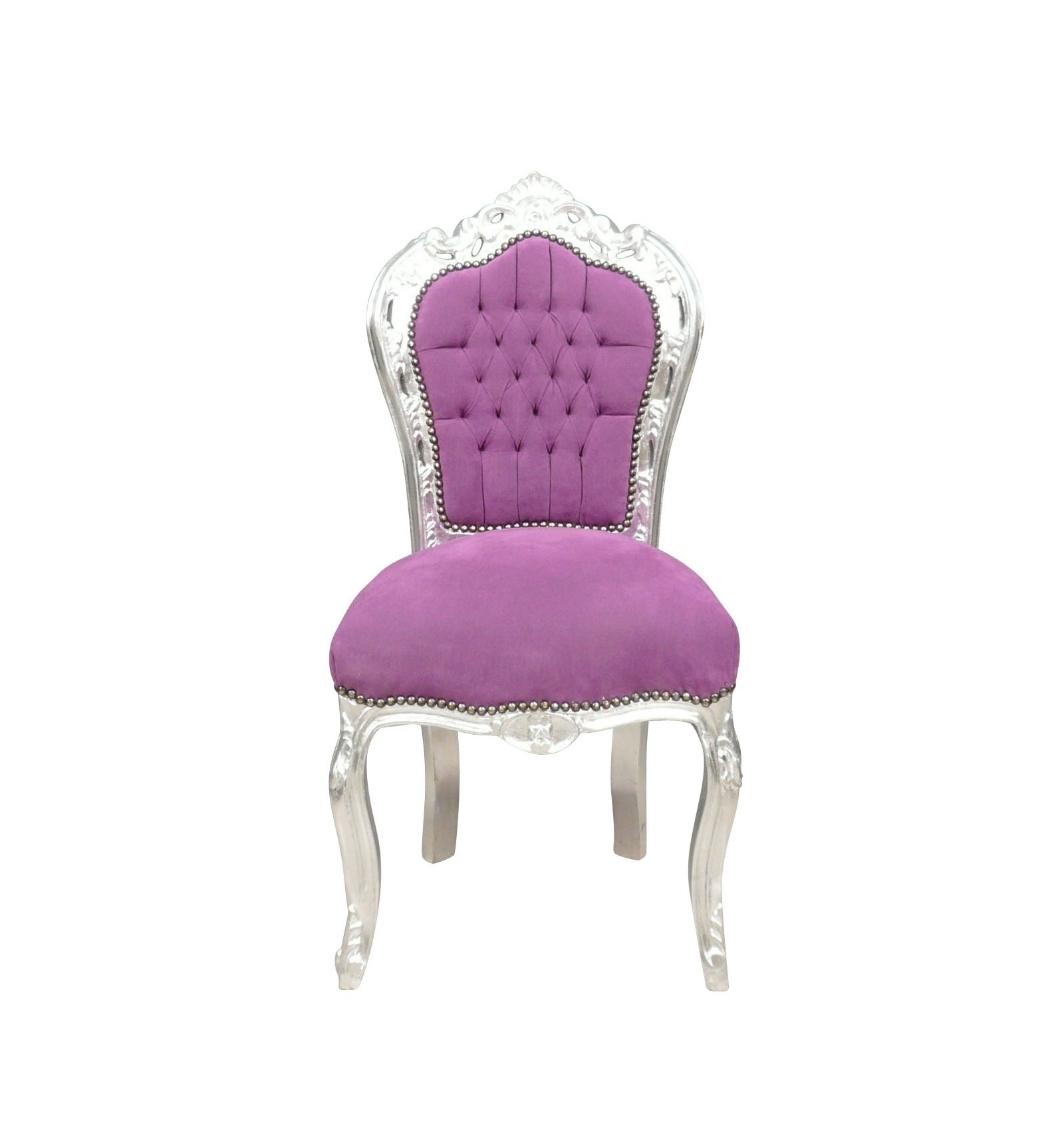 Chaise baroque meubles baroques - Fauteuil rose fushia ...