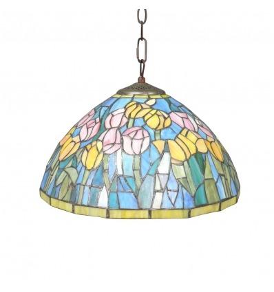Tiffany hangelampe blau - Tiffany lampen