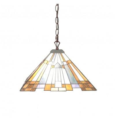 Ljuskrona stil Tiffany Art deco - suspensioner -
