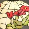 Tiffany-Lampenweißhintergrund