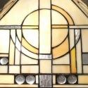 Lampe Tiffany art déco avec un vitrail en verre