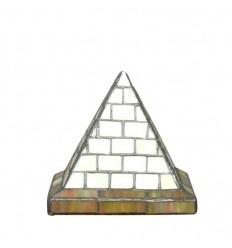 Tiffany tischlampe in Form einer Pyramide