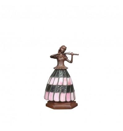Lampe Tiffany musicienne