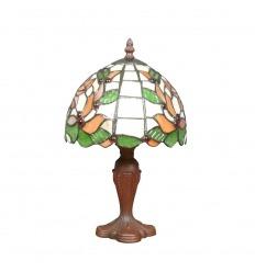 Tiffany bordslampa med lövverk