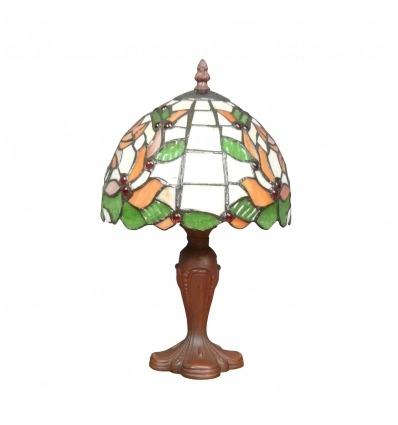 Tiffany lampe mit laubdekor