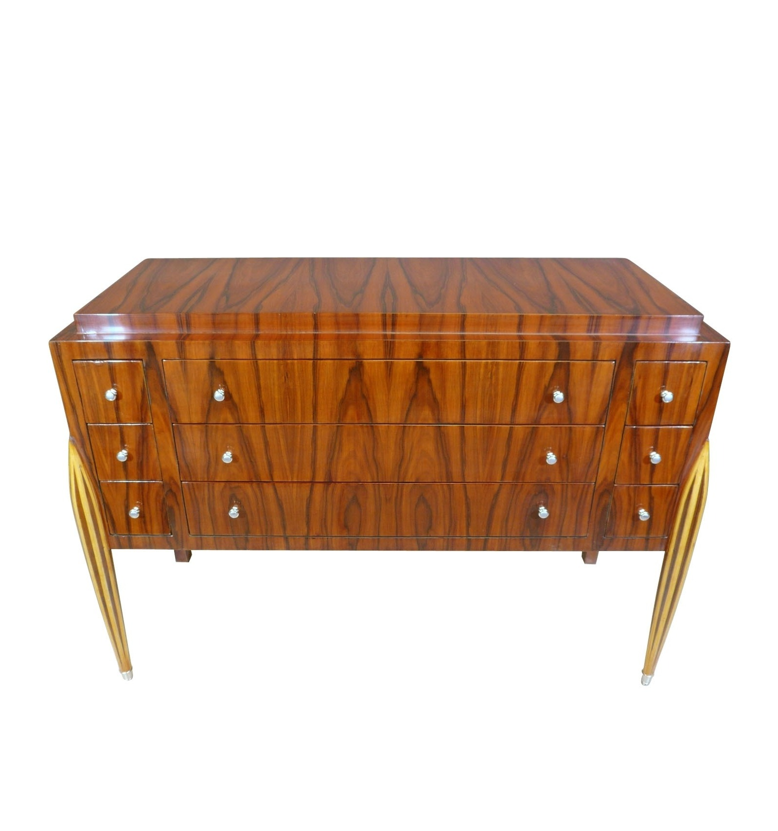 commode art d co meubles de rangement 9 tiroirs style 1920. Black Bedroom Furniture Sets. Home Design Ideas