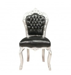 Black baroque PVC chair