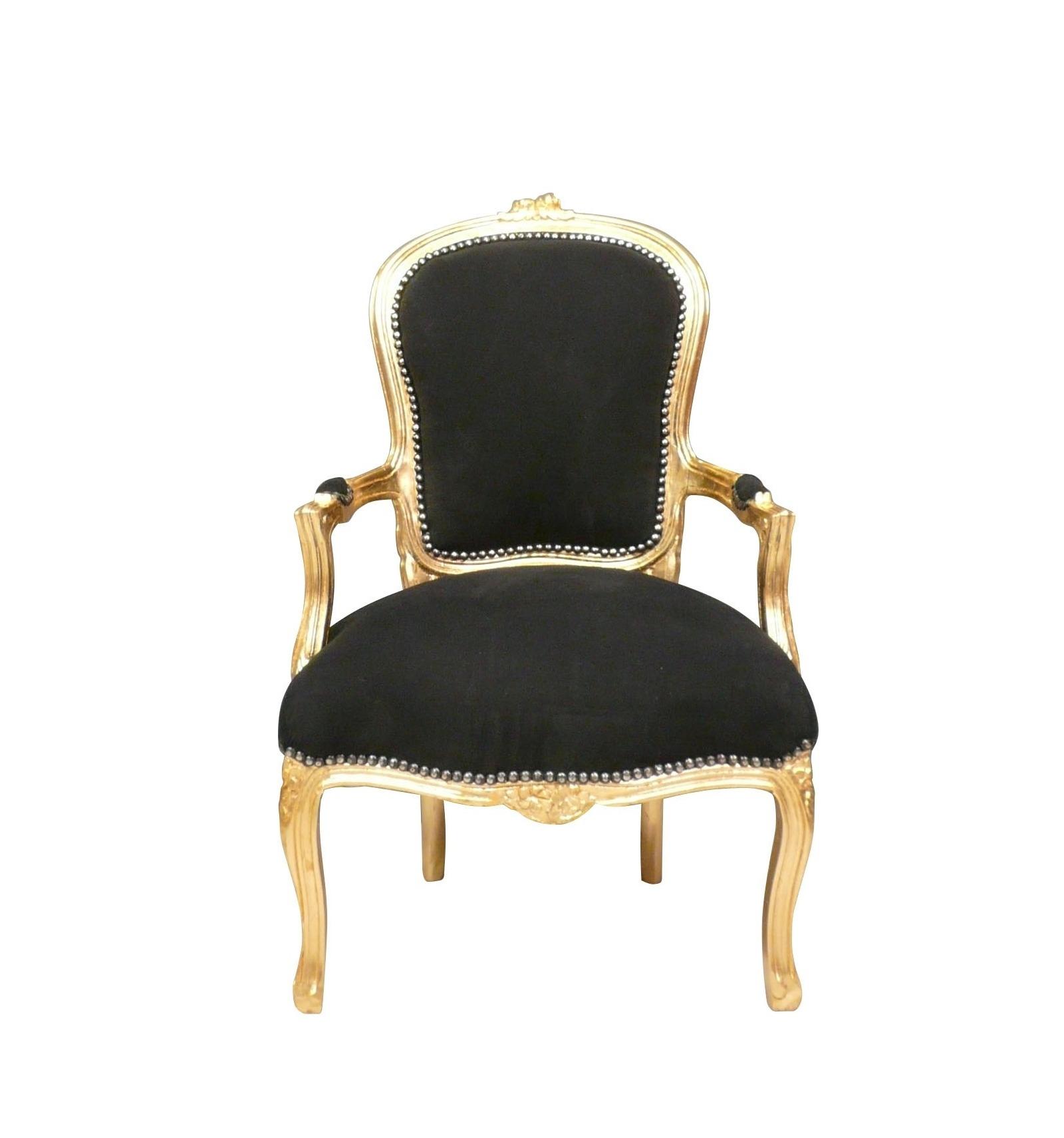fauteuil louis xv noir et bois dor fauteuils louis xv. Black Bedroom Furniture Sets. Home Design Ideas