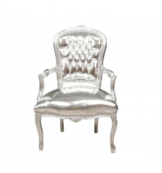 Барокко стул Луи XV серебро