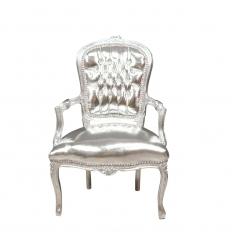 Baroque armchair Louis XV silver