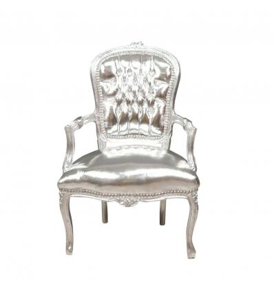Barock stol Louis XV silver