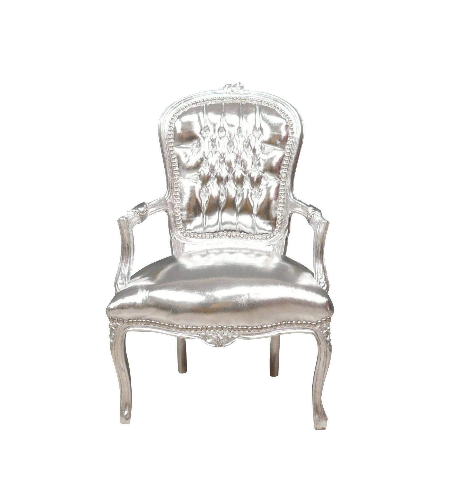 fauteuil baroque louis xv argent fauteuils louis xv. Black Bedroom Furniture Sets. Home Design Ideas