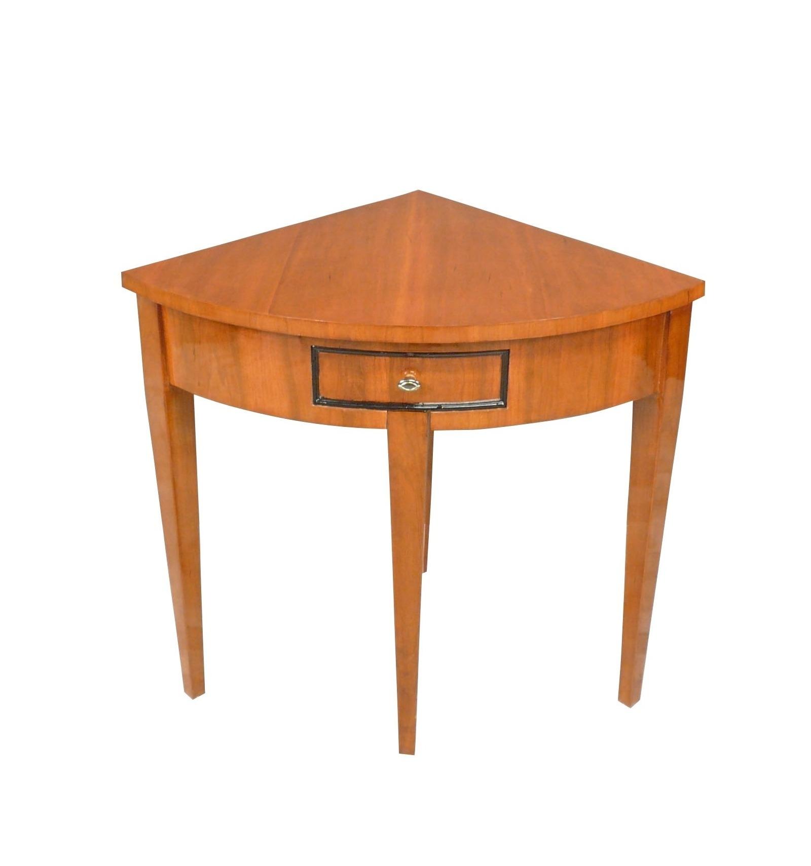 console louis xvi d 39 angle en marqueterie meubles de style. Black Bedroom Furniture Sets. Home Design Ideas