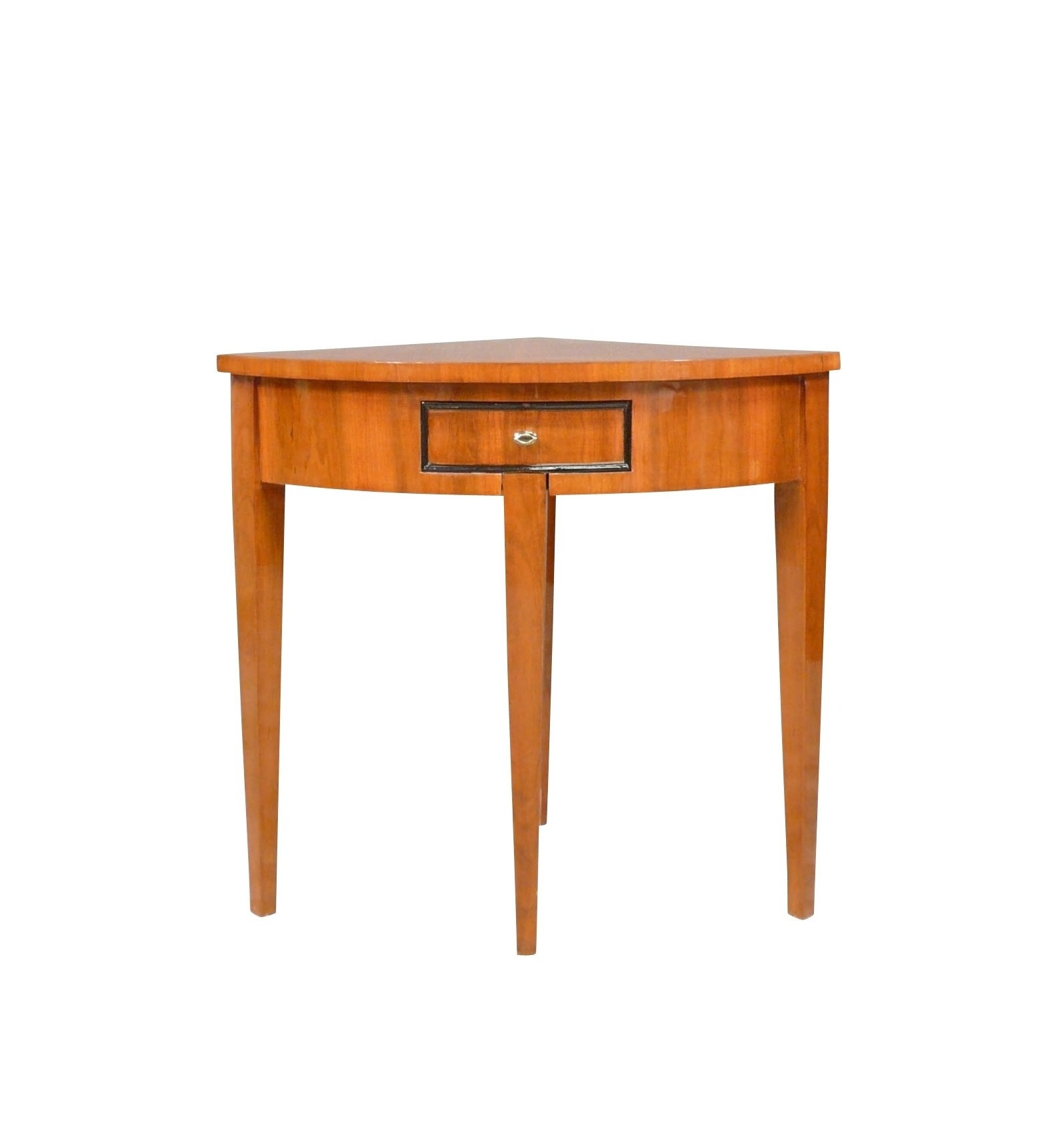 Console Louis XVI corner in marquetry - style Furniture