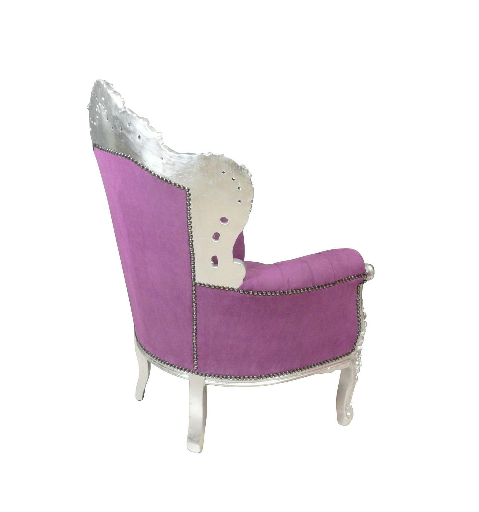 lila barock sessel m bel. Black Bedroom Furniture Sets. Home Design Ideas