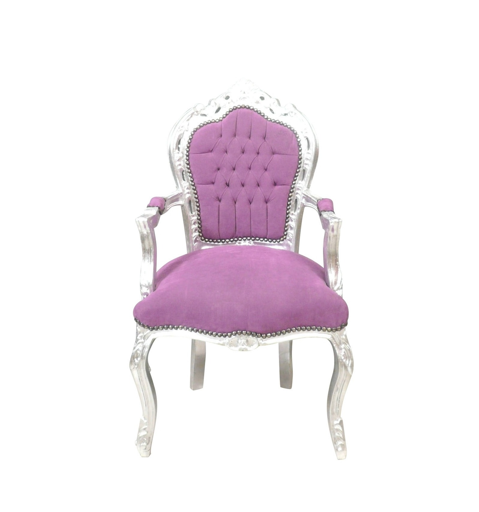 fauteuil baroque classique mauve. Black Bedroom Furniture Sets. Home Design Ideas
