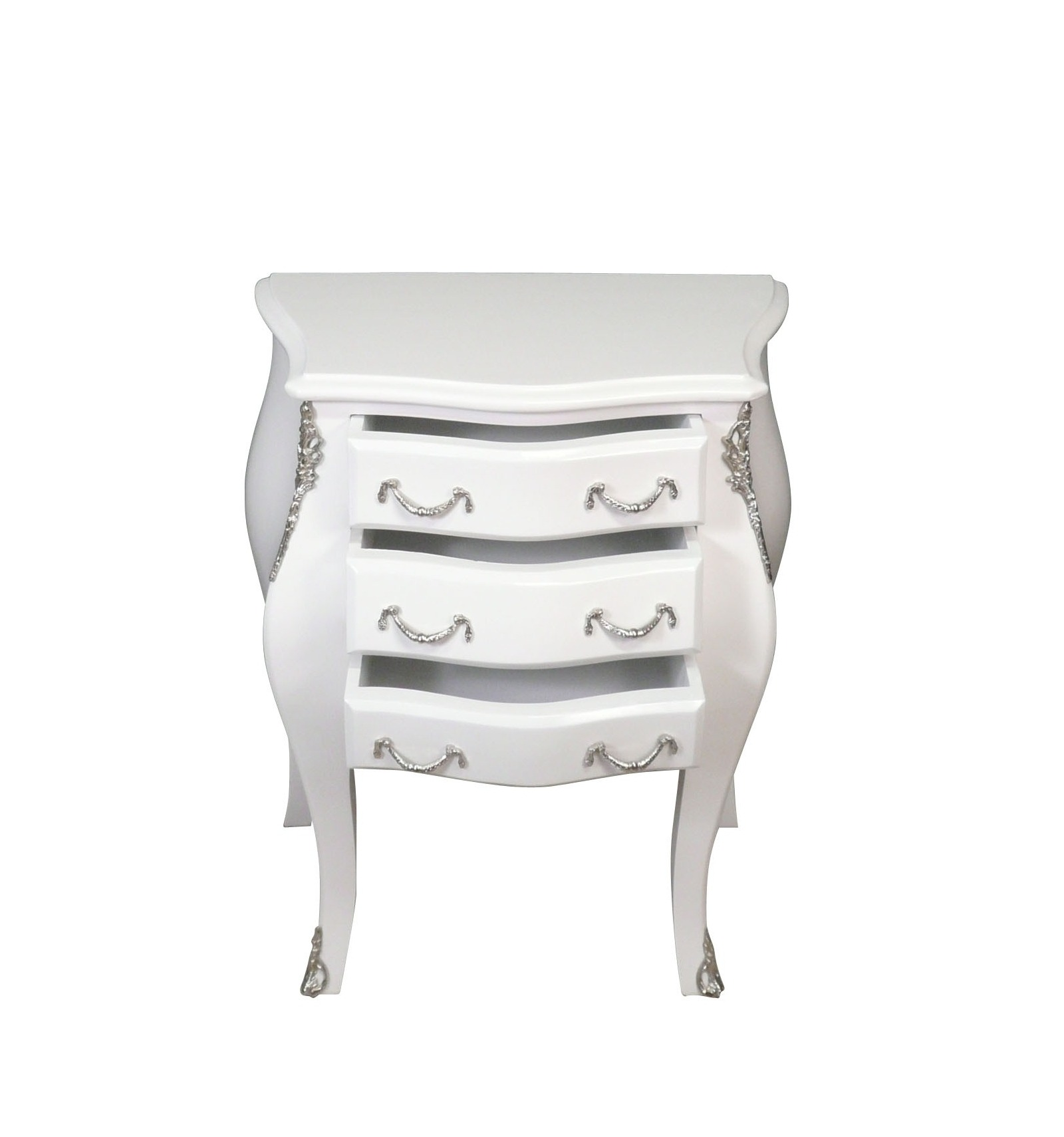 commode baroque blanche style louis xv commodes rococo. Black Bedroom Furniture Sets. Home Design Ideas