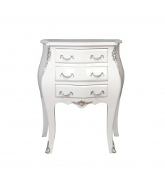 Baroque white Louis XV style commode