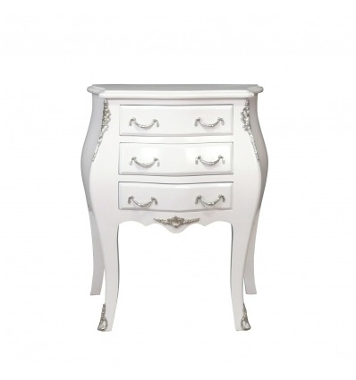 commode baroque blanche cheap elbmbelde commode en bois blanc patin aspect cottage occasion. Black Bedroom Furniture Sets. Home Design Ideas