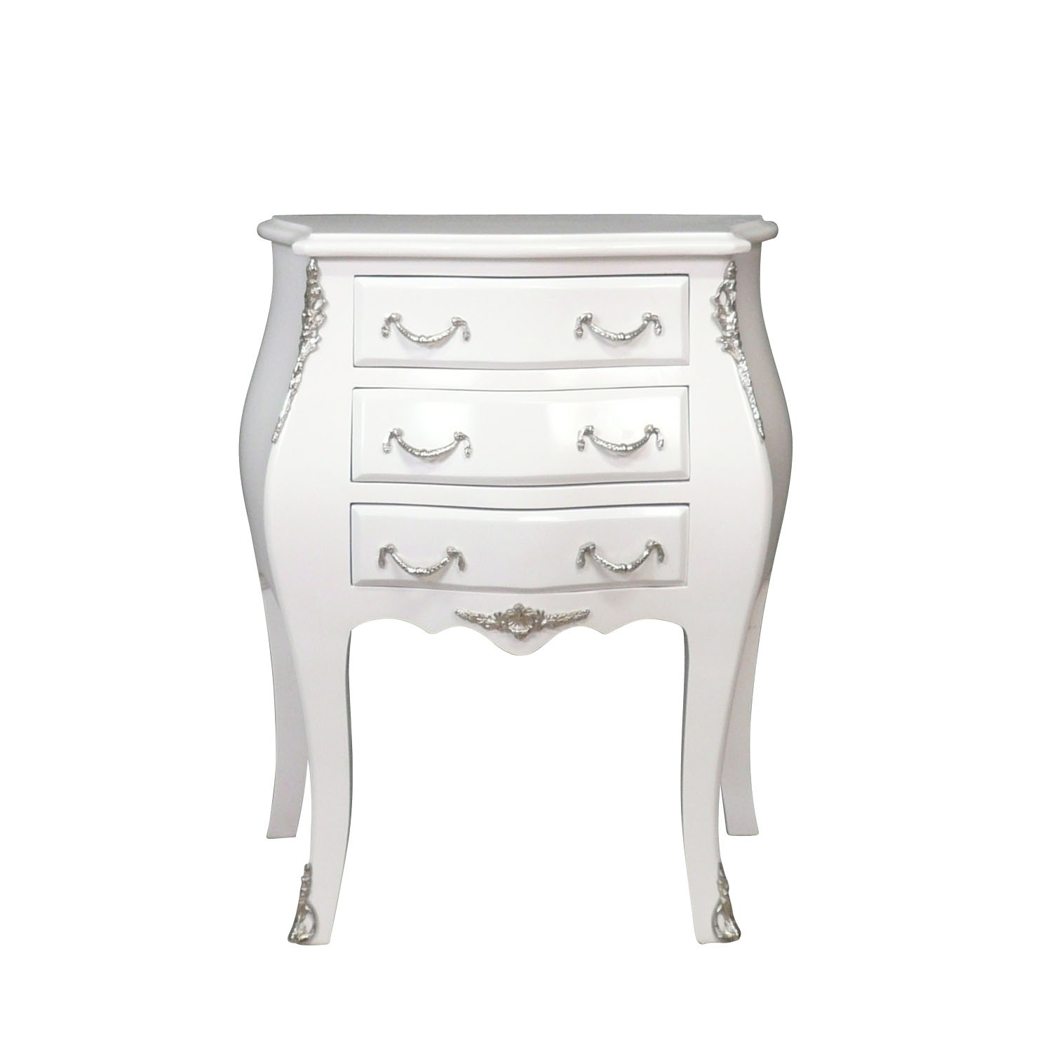 commode baroque blanche style louis xv ebay. Black Bedroom Furniture Sets. Home Design Ideas