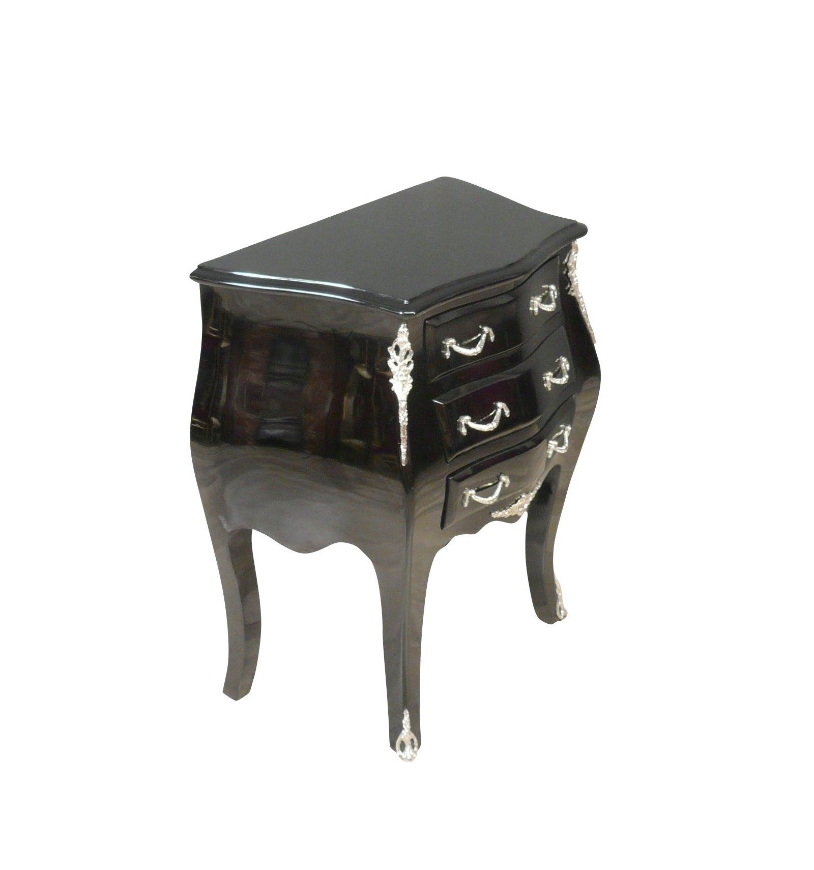 commode baroque noire de style louis xv meubles baroques. Black Bedroom Furniture Sets. Home Design Ideas