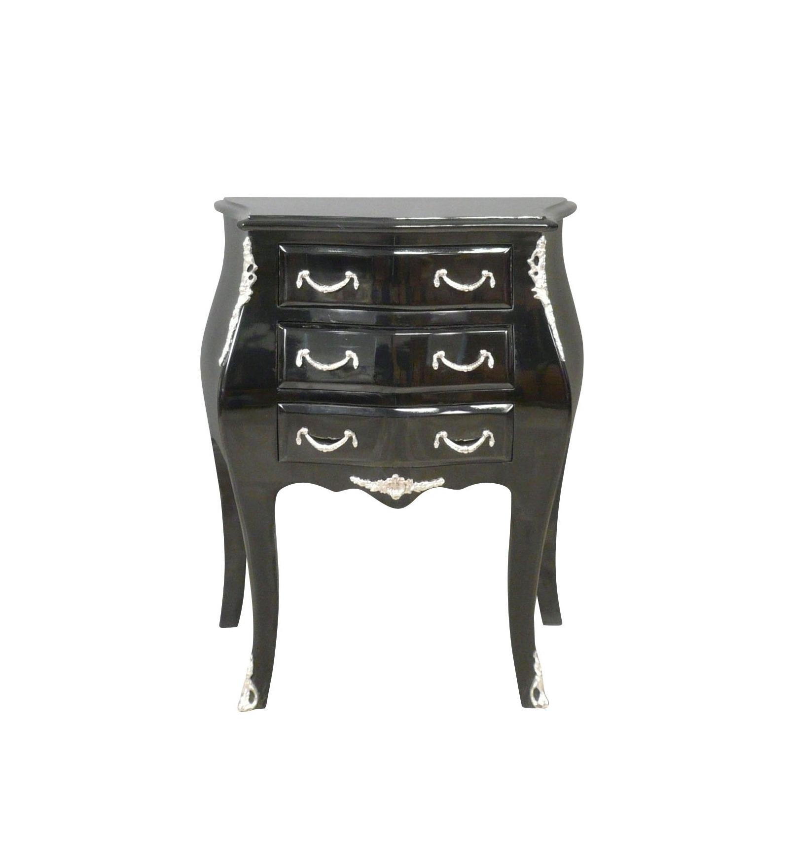 commode baroque noire de style louis xv meubles baroques. Black Bedroom Furniture Sets. Home Design Ideas
