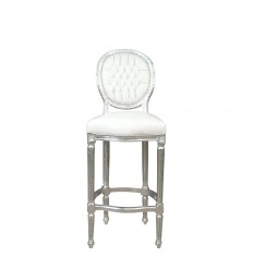 Chair of bar baroque style white Louis XVI
