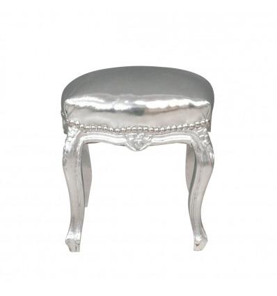 Pouf barocco argento, Mobili soggiorno stile barocco -