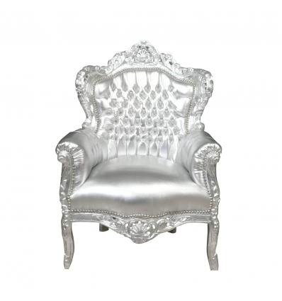 Silver baroque armchair