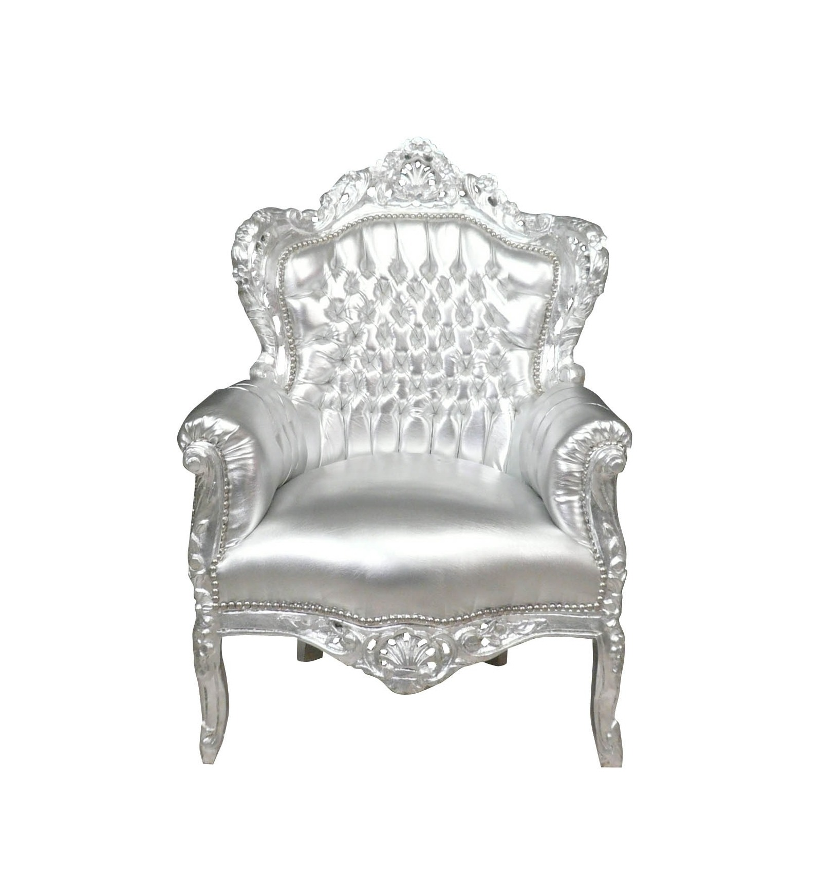 fauteuil baroque argent pour une deco design et esth tique. Black Bedroom Furniture Sets. Home Design Ideas