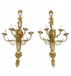 Пара из латуни стиля Людовика XVI