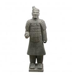 Estatua guerrera de la infantería china 120 cm.